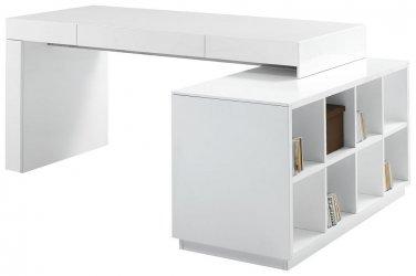 Heston White Modern Office Desk