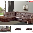 945 Brown Leather Sectional by Nicoletti