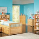 Atlantic Furniture Captain's Twin Bed in Natural Maple