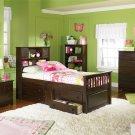 Atlantic Furniture Captain's Twin Bed in Antique Walnut