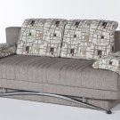 Fantasy Convertible Sofa Bed with Storage in Aristo L. Brown