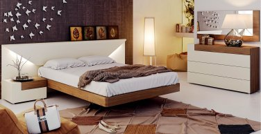 Elena Modern Queen Size 5pc Bedroom Set by ESF