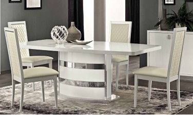 Roma White Modern Dining 5pc Set By ESF