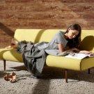 Unfurl Mustard Fabric Sofa Bed