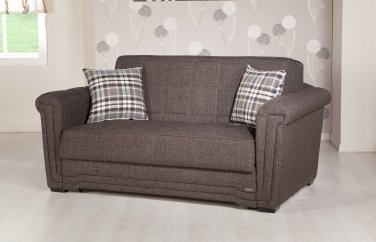 Victoria Loveseat Sleeper Andre Dark Brown