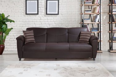 Aspen Santa Glory Brown Sofa Bed With Storage