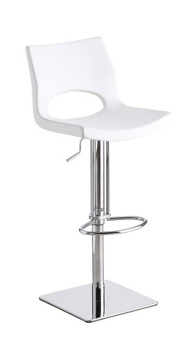 Set of Two Lena White Swivel Barstool
