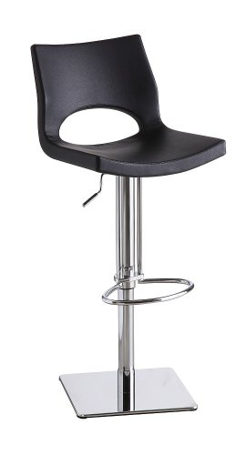 Set of Two Lena Black Swivel Barstool