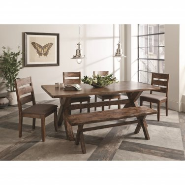 Alston Rustic Dining Set with Bench