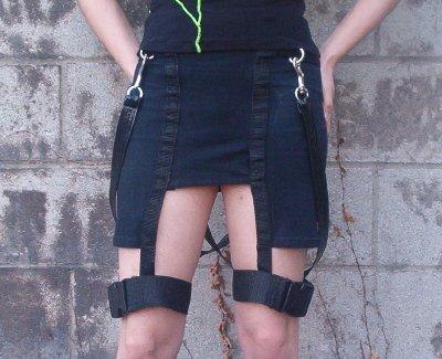 Mass Destruction - Leg Strap Skirt     SK9-7004