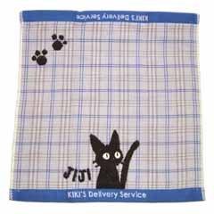Ghibli - Kiki's Delivery Service - Jiji - Hand Towel - Jacquard Weave & Gauze - blue  (new)