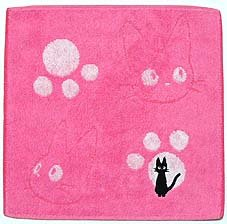 Ghibli - Kiki's Delivery Service - Mini Towel - Jiji Embroidered -pink-outofproduction-RARE(new)