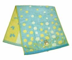 Ghibli - Totoro - Bath Towel - Totoro Embroidered - Non Twisted Thread & Jacquard -nohara-blue(new)