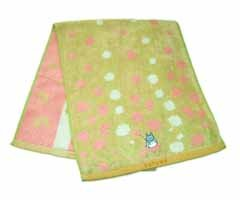 Ghibli - Totoro - Bath Towel - Chu Totoro Embroidered -NonTwistedThread & Jacquard-nohara-pink(new)