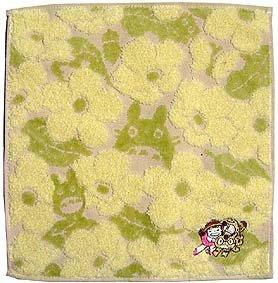 Ghibli - Totoro - Mini Towel - Nekobus & Mei Embroidered - Non Twisted Thread - kadan - yellow (new)