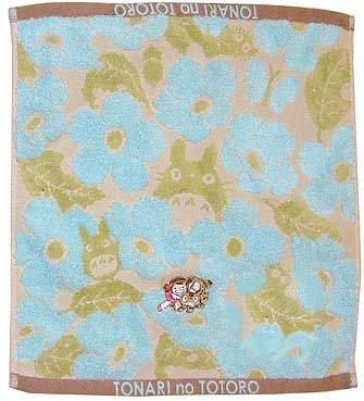 Ghibli- Totoro - Hand Towel - Nekobus Mei Embroidered-NonTwisted-kadan-blue-outproduction-2left(new)