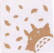 Ghibli - Totoro - Mini Towel - Natural Colored Cotton - omajinai - brown (new)