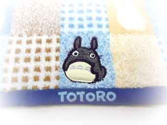 Ghibli - Totoro - Face Towel - Totoro Applique - fluffy - blue - RARE (new)