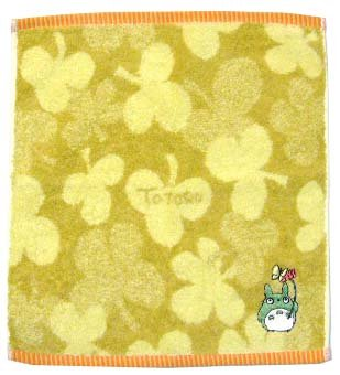 Ghibli - Totoro - Hand Towel - Totoro & Butterfly Embroidered - yellow - Clover (new)