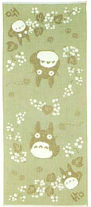 Ghibli - Totoro - Face Towel - Organic Cotton & Pile & Gauze - Kinomi (new)