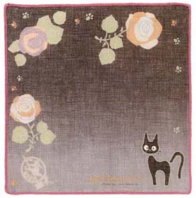 Ghibli - Kiki's Delivery Service - Jiji - Handkerchief - Gauze -2006-out of production-SOLD(new)