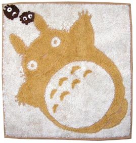 Ghibli - Totoro - Mini Towel - Organic Cotton - Kurosuke Weaved - egao - brown - 2006 (new)
