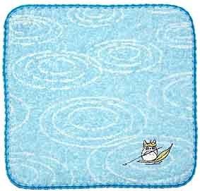 Ghibli - Totoro - Mini Towel - Non Twisted Thread - Totoro on Leaf Embroidered - hamon (new)