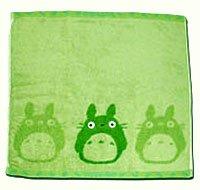 Ghibli - Totoro - Hand Towel - Non Twisted Thread & Shaggy Weave & Loop - popuri - green (new)