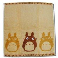 Ghibli - Totoro - Hand Towel - Non Twisted Thread & Shaggy Weave & Loop - popuri - brown (new)