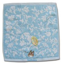 Ghibli - Totoro - Hand Towel - Totoro Embroidered - Non Twisted Thread - blue (new)