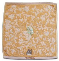 Ghibli - Totoro - Hand Towel - Totoro Embroidered - Non Twisted Thread - brown (new)