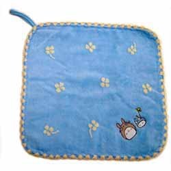 Ghibli - Totoro - Loop Mini Towel -NonTwistedThread- Embroidered-hira-blue- SOLD(new)