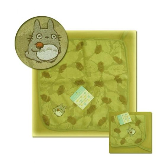 Ghibli - Totoro - Loop Mini Towel - Totoro Embroidered - Acorn & Leaf - green (new)