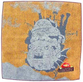 Mini Towel - Calcifer Embroidered - orange - Howl's Moving Castle - no production (new)
