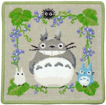 Totoro - Mini Towel - Chenille Weave - Reversible - Minori (new)