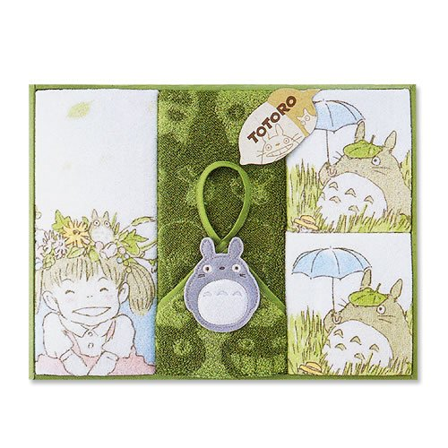 Ghibli - Totoro - Towel Gift Set - 2 Wash & Face & Loop Hand Towel - Hohoemi - RARE (new)