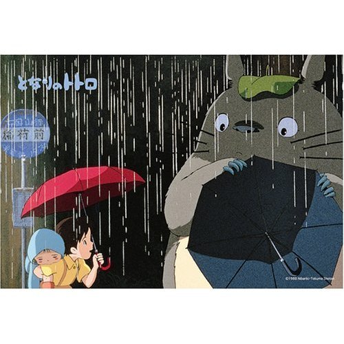 Ghibli - Totoro & Satsuki & Mei - 70 pieces Jigsaw Puzzle -kasa wo sashitene-out of production(new)