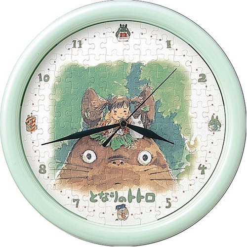 SOLD - Jigsaw Puzzle Clock -117 pieces- Totoro & Chu & Sho & Mei - Ghibli -outofproduction(new)