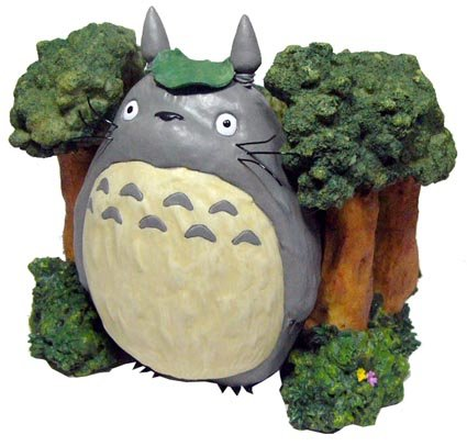 SOLD - Planter Pot - Totoro in Woods - Ghibli - out of production (new)