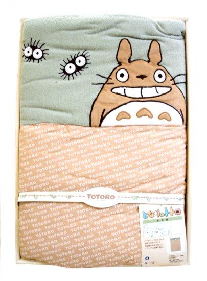 Ghibli - Totoro & Makkuro Kurosuke - Soft Blanket (new)