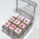 9 Stamp Set - Kiki & Jiji - made in Japan - Kiki's Delivery Service - Ghibli (new)