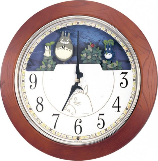Mechanism Wall Clock - 6 Music Box - Melody & Dondoko every hour - Quartz Citizen - Ghibli (new)
