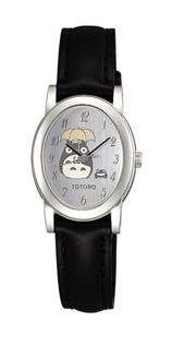 Wrist Watch in Box Case - Seiko - silver - Totoro & Frog - Ghibli - Alba (new)