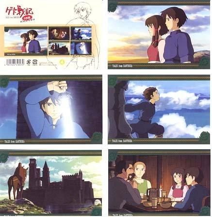 Ghibli - Tales from Earthsea / Gedo Senki - 5 Postcards Set - 2006 (new)