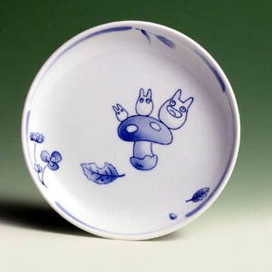Ghibli - Sho Totoro - Plate (M) - White Porcelain - Noritake #5 -out of production- SOLD OUT (new)