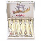 1 left- 5 Fork Set- Stainless Steel & Gold-plating- Noritake -made Japan- Totoro -noproduction(new)