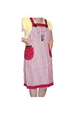 Ghibli - Kiki's Delivery Service - Apron - Jiji Embroidered - stripe - red - RARE - 1 left (new)