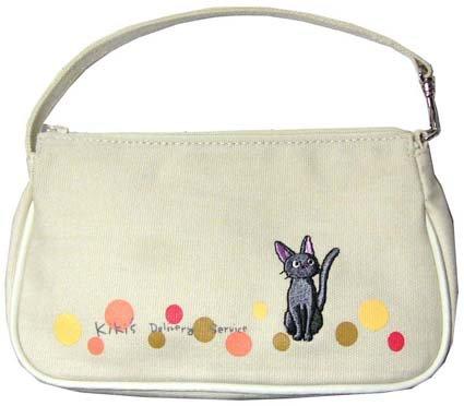 Ghibli - Kiki's - Jiji - Hand Bag - Jiji Embroidered - white - out of production - SOLD (new)