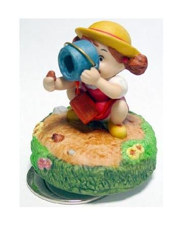 1 left - Music Box - Porcelain - Mei & Bucket - Totoro - Ghibli Sekiguchi no production (new)