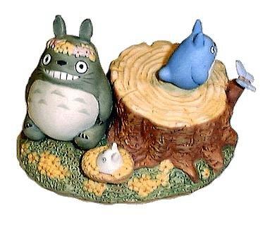 Music Box - Rotary - Porcelain - hanawa - Totoro & Chu & Sho Totoro - Ghibli (new)
